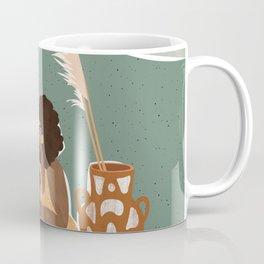 Pampas Grass Pottery Coffee Mug