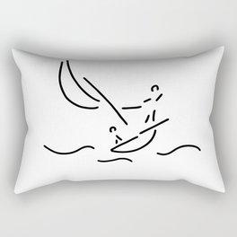 sail boat sports sailings Rectangular Pillow