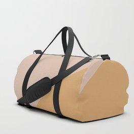 Warm Neutral Color Wave Duffle Bag
