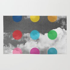 Storm Clouds + Colored Dots Rug