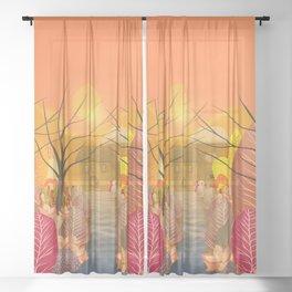 Mystery Garden VIII Sheer Curtain