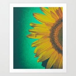 Sunflower vintage Art Print
