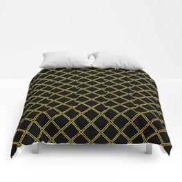 Art Deco: San Francisco Glitter-Gold and Black Comforters
