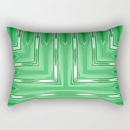 Art Deco Lime Green Spear Pattern Rectangular Pillow