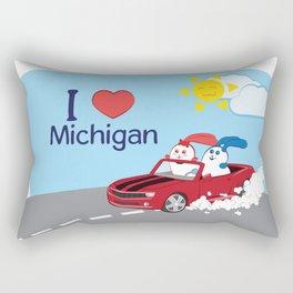 Ernest and Coraline | I love Michigan Rectangular Pillow