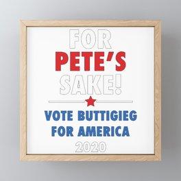 For Pete's Sake Vote Buttigieg for America 2020 Framed Mini Art Print