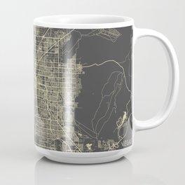 Las Vegas Map #1 yellow Coffee Mug