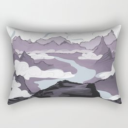 Across a Mountain Valley  Rectangular Pillow