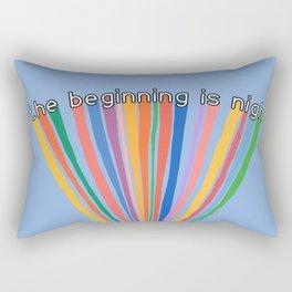 The Beginning is Nigh Rainbow Rectangular Pillow