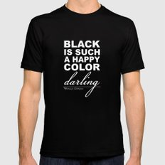 Black is such a happy color darling - Morticia Addams Mens Fitted Tee 2X-LARGE Black