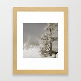 Yellowstone in Winter Framed Art Print