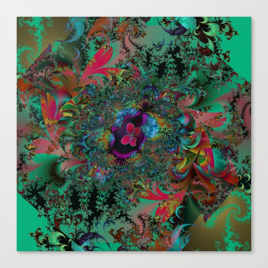 Butterfly Dreams Fractal art Canvas Print