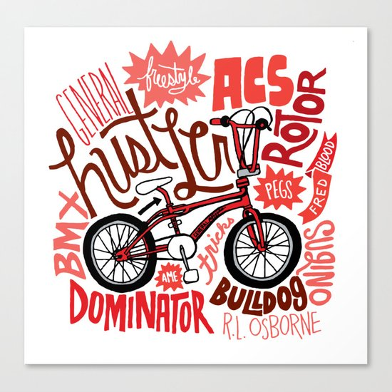 All My Bikes: 2, General Hustler Canvas Print