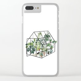 greenhouse with plants Clear iPhone Case