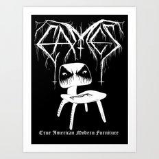 Modern Black Metal Art Print