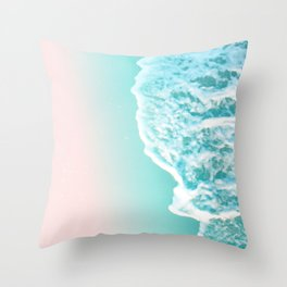 Turquoise Blush Ocean Dream #1 #water #decor #art #society6 Throw Pillow