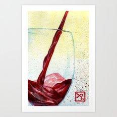Wine Pouring Art Print