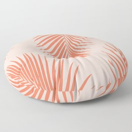 Coral Palms ~ Summer Tropical Pattern Floor Pillow