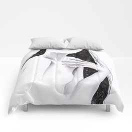 Mixed media study Comforters