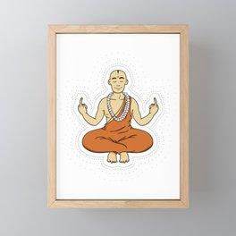 Spiritual peace, unfuck the world ;) Framed Mini Art Print