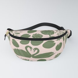 Pond Affair in Pink and Green Fanny Pack