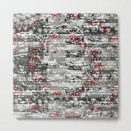 Ambulance Chaser (P/D3 Glitch Collage Studies) Metal Print