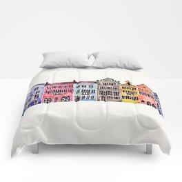 Rainbow Row – Charleston Comforters