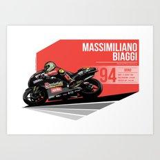 Massimiliano Biaggi - 1994 Brno Art Print
