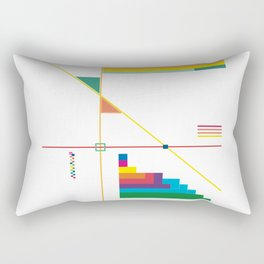 Triangles with Steps Rectangular Pillow