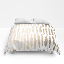 White Gold Sands Vertical Dash Comforters