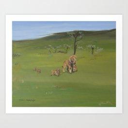 Lions family Art Print