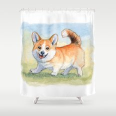 Funny Welsh Corgi 859 Shower Curtain