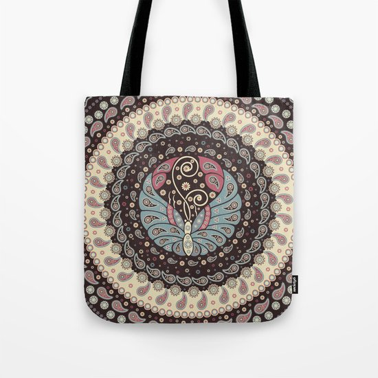 Butterfly Mandala Tote Bag