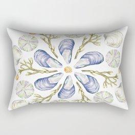 Tide Pool Beach Mandala 2 - Watercolor Rectangular Pillow