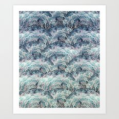 BOHO SEA MANDALAS Art Print
