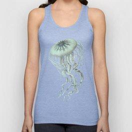 Jellyfish Underwater Aqua Turquoise Art Unisex Tank Top
