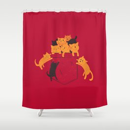 Pocket Cats Shower Curtain