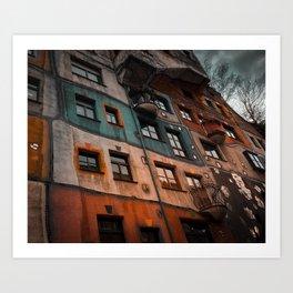 Hundertwasser museum Art Print