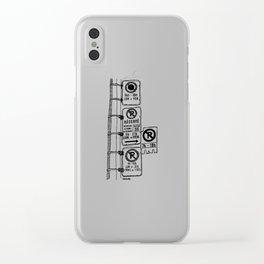 Montréal - Parking Hell - Black Clear iPhone Case