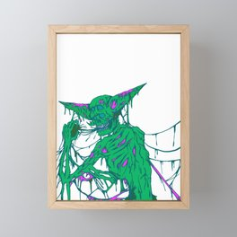 Feeding on flesh Framed Mini Art Print