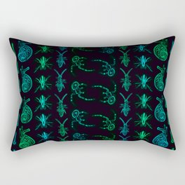 Neon Insect Stripes 2 Rectangular Pillow