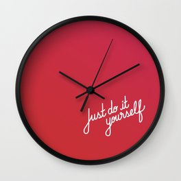 Just do it yourself   [gradient] Wall Clock