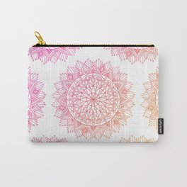 Pink & Orange Mandala Carry-All Pouch
