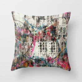 Analog Synthesizer, Abstract painting / illustration Throw Pillow