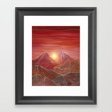 Lines in the mountains VI Framed Art Print