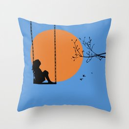 Dreaming like a child Throw Pillow