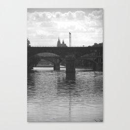 Bridges on Vltava Canvas Print