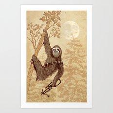 SlothWars Art Print