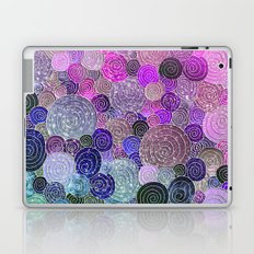 Abstract blue& purple glamour glitter circles and dots for Girls and ladies Laptop & iPad Skin
