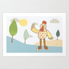 sunny rooster Art Print